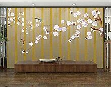 Gestreifte Blume 3D Tapeten -430Cmx310Cm Vogel
