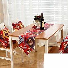 Gestreifte gedruckten Tischl?ufer/Europ?ischen Stil Gartentisch Tischl?ufer/TV-Schrank Tisch-Tischl?ufer-A 30x180cm(12x71inch)