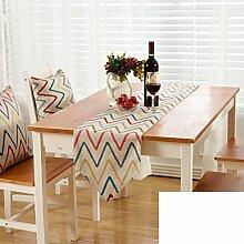 Gestreifte gedruckten Tischl?ufer/Europ?ischen Stil Gartentisch Tischl?ufer/TV-Schrank Tisch-Tischl?ufer-C 30x180cm(12x71inch)