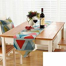 Gestreifte gedruckten Tischl?ufer/Europ?ischen Stil Gartentisch Tischl?ufer/TV-Schrank Tisch-Tischl?ufer-D Tischl?ufer:30x200cm(12x79inch)