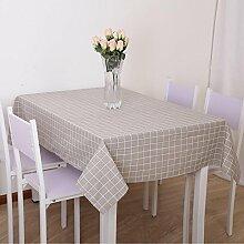 gestreifte gitter Tischdecke Leinen baumwolle Europäischen stil Retro Hotel Couchtisch Esstisch Geschirr Staub Tuch , E , 120*160cm