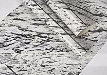 Gestreifte Tapete Minimalismus Schlafzimmer Wohnzimmer Tv Hintergrund Wandtapeten 0,53 m * 10 m, Rauchgrau