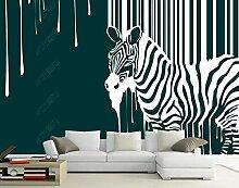 Gestreifte Tapeten Zebra Schwarz-Weiß-Streifen