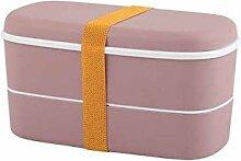 Gesundes Material Bento-Box 2-lagige