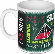 getDigital 13081 Wissenschaftsbecher Mathematik Becher/Tasse für Nerds, Geeks, Studenten und Naturwissenschaftler, Keramik, Weiß, 10 x 10 x 10 cm