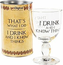 getDigital Weinkelch I Drink and I Know Things