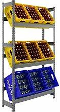 Getränkekistenregal 1800 x 1010 x 300 mm, bis zu