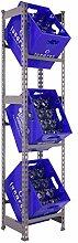 Getränkekistenregal 1800 x 410 x 300 mm, bis zu 3