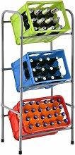 Getränkekistenregal Cool für 3 Kisten   Metall  