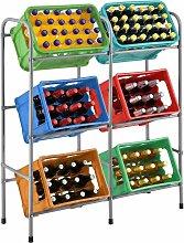 Getränkekistenregal Cool für 6 Kisten   Metall  