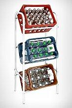 Getränkekistenregal für 3 Getränkekästen -