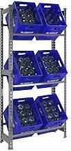 Getränkekistenregal für 3 oder 6 Kisten -