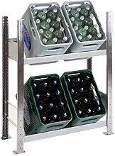 Getränkekistenregal für 4 Kästen, 100 x 81 x 34