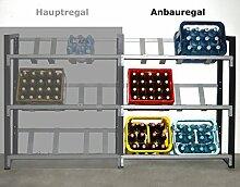 Getränkekistenregal für 6 Kisten (Anbauregal)