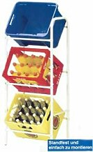 Getränkekistenregal Regal Kastenständer Lagerregal Flaschenkistenständer Kastenregal Kistenständer Klappbox