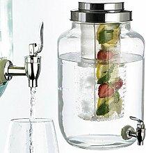 Getränkespender aus Glas (Fassungsvolumen 8