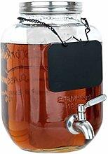 Getränkespender aus Glas mit Eis- und