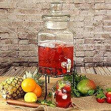 Getränkespender aus Glas mit Ständer 197