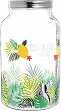 Getränkespender aus Glas mit tropischem