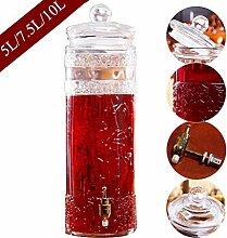 Getränkespender Aus Glas mit Zapfen,Stabilem