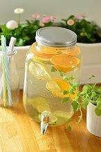 Getränkespender Glas mit Hahn Saftspender