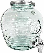 Getränkespender Groß Glas mit Zapfhahn 8 Liter