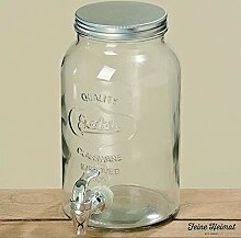 Getränkespender H25cm 3000ml klar Glas klar