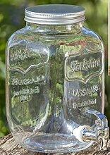 Getränkespender H26cm 4000ml Material: Glas klar