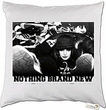 getshirts - Bahar // Online Shop - Kissen - 09 - Nothing Brand New - weiss uni