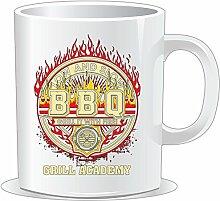 getshirts - RAHMENLOS® Geschenke - Tasse - BBQ - Low and Slow - Grill it with Fire - uni uni