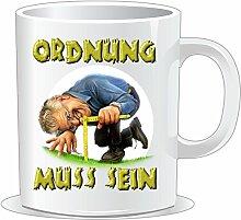 getshirts - RAHMENLOS® Geschenke - Tasse - Heimwerker - Ordnung muss sein - uni uni
