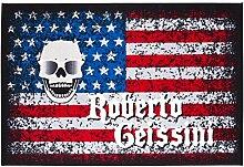 Getufteter Designer-Teppich American Lifestyle von Roberto Geissini, leicht zu reinigen und aus robustem Material, Farbe:Bunt, Größe:100 x 150 cm