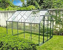 Gewächshaus Infloria 7.4m2 gehärtetes Glas