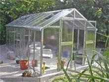 Gewächshaus mit Glas unschlagbar stabil 2,5 x