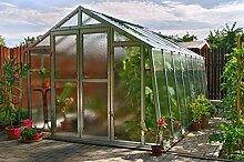 Gewächshaus mit Glas unschlagbar stabil 2,76 x