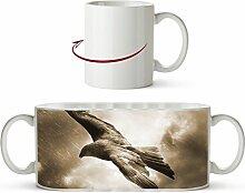 gewaltiger Adler in den Wolken Effekt: Sepia als