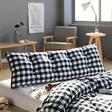 Gewaschen baumwoll-bett kissen Kissen Sofa soft bag Japanisches tatami kissen Zwei personen langes kissen Rückenlehne für bett Gürtel kissen-D 100x20x50cm(39x8x20inch)