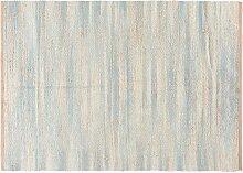 Gewebter Teppich aus Jute und Baumwolle 140x200