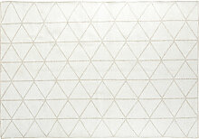 Gewebter Teppich mit grafischen Motiven 140x200