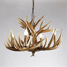 Geweih Harz Kronleuchter Lampe Moderne LED-Geweih