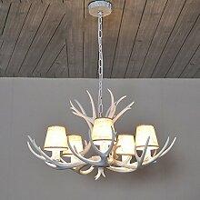 Geweih Kronleuchter mit Antler Holz Decken Leuchte