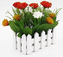 Gewerkschaft Tesco 16cm Holzzaun Simulation Blumen Carnation,Orange