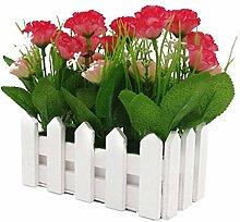 Gewerkschaft Tesco 16cm Holzzaun Simulation Blumen Carnation,Rosa