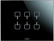 Gewiss GW16966CN Chorus Ice Touch KNX Abdeckrahmen, 6Symbole, Schwarz