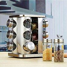 Gewürzbehälter 12 Stück Küche Glas