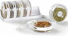 Gewürzbox Set Küche Gewürzglas Rack