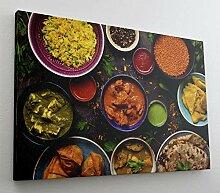Gewürze Essen Nahrung XXL Leinwand Bild Wandbild