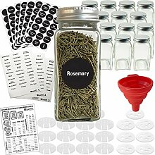 Gewürzgläser aus Glas, aluminium, farblos, 4oz -
