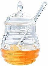 Gewürzkasten, 245 ml honigglas kristallglas mit