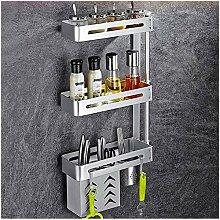 Gewürzregal 4 -tier Küchenregal Wand 304